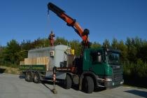 Scania P380 s HR Palfinger | Převoz benzínky